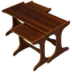 Set of Nesting Teak Tables Design of the 1950-1960