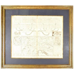 19th Century Map Imperial Court of Austria Habsburgs