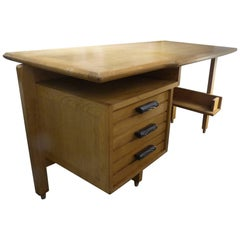 Fantastic Oak Desk by Guillerme and Chambron, circa 1960