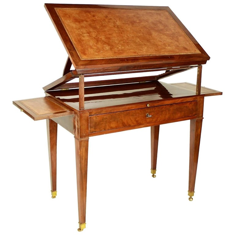 Directoire Mahogany Architect's Table 'Table à Tronchin' For Sale