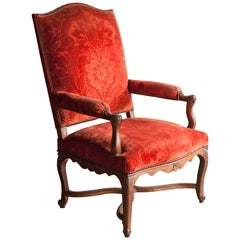 Large 18th Century French Régence Fauteuil or Open Armchair