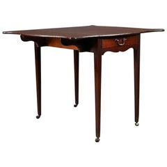 English Mahogany Butterfly Pembroke Table with Single Drawer