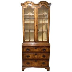 Queen Anne Style Double Dome Cabinet on Chest