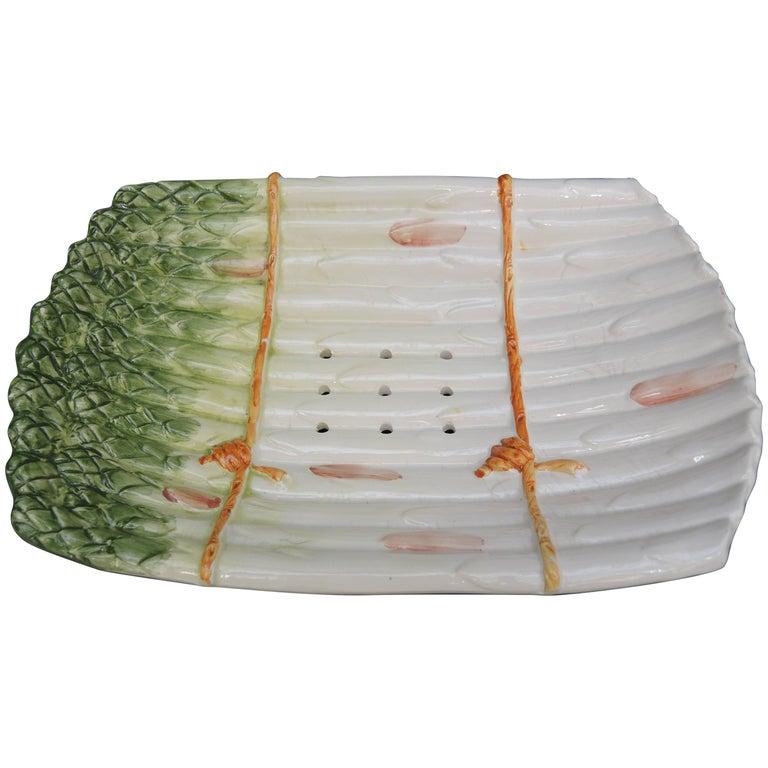 vintage italian trompe l 39 oeil asparagus serving dish for sale at 1stdibs. Black Bedroom Furniture Sets. Home Design Ideas