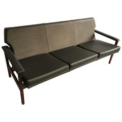 TH Brown 1960s Mid-Century Three-Piece Lounge Suite