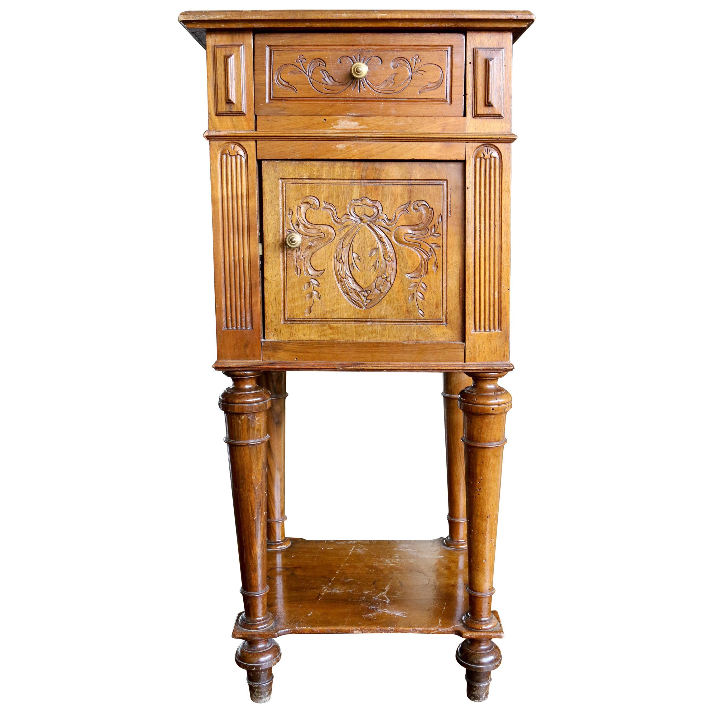 19th Century Walnut Bedside Cabinet