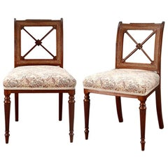 Pair of Regency Dining Chairs with Caned Back