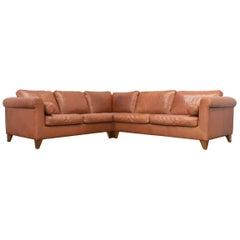 Machalke Designer Leather Cornersofa Brown Sofa Vintage