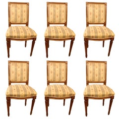 18th Century Set of Six Louis XVI Chairs