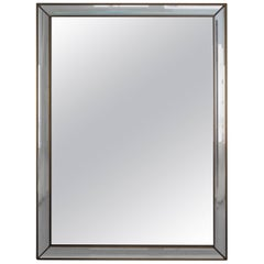 Belgian Hollywood Regency De Knudt Mirror with Facet Cut Edge