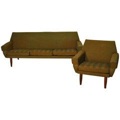 Danish Sofa and Lounge Chair by H.W. Klein for Bramin, 1950s, Scandinavia