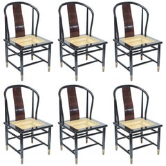 Set of Henredon Dining Chairs 'Four Chairs and Two Captains', 1970s, USA