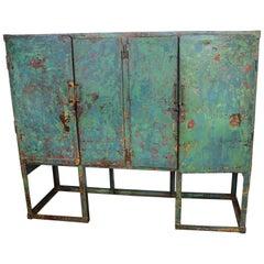 Vintage French Street Storage Cabinet