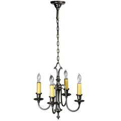 Silver Plated Bradley & Hubbard Four-Arm Chandelier
