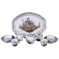 Meissen Porcelain Tête-à-Tête Tea Service, circa 1800