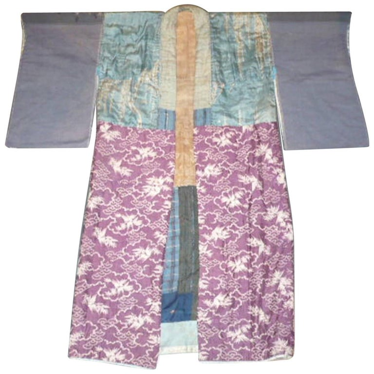 Japanese Juban Kimono Made from Patches of 18th and 19th Century Fabric