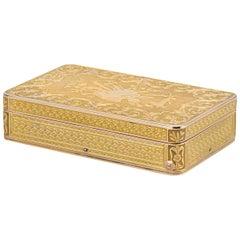 Swiss Gold Musical Snuff Box