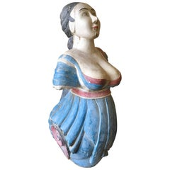 Antique Carved and Decorated Ship's Figurehead, circa 1890