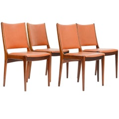 Set of Four Rosewood Side Chairs by Johannes Andersen for Uldum Møbelfabrik