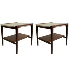 1960 Gordon Furniture Pair of Stone Top Stands