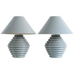 1980s Postmodern Ceramic Lamps