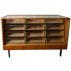 Vintage Art Deco Haberdashery Shop Counter with Drawers