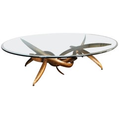 Massive Silas Seandel Style Cocktail Table