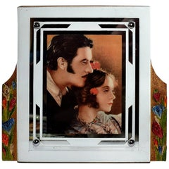 English Art Deco Barbola Picture Frame