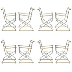 Set of Eight Cleo Baldon Armchair Frames by Terra Furniture Company, Venice, CA