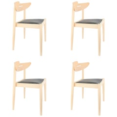 Set of Four Jakob Chairs by Jakob Berg for Findahl of Denmark