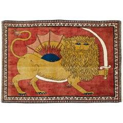 Vintage Persian Shiraz Pictorial Rug