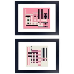 Pair of Josef Albers Lithographs from Formulation and Articulation