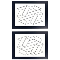 Black and White Lithographs by Josef Albers from Formulation and Articulation