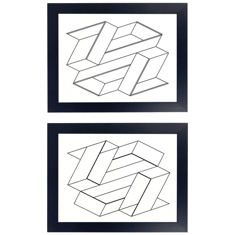 Black and White Lithographs by Josef Albers from Formulation and Articulation For Sale