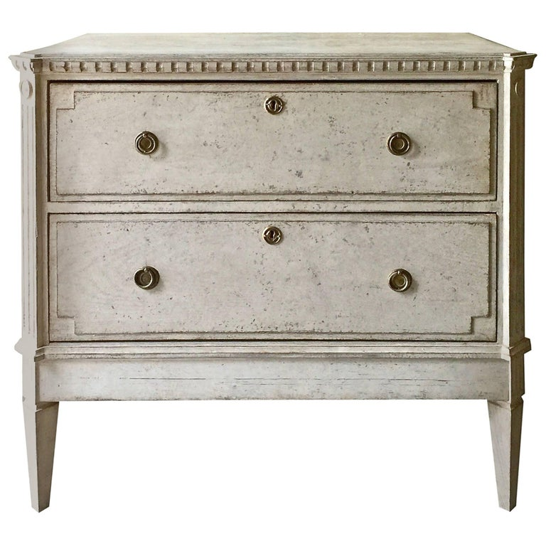 19th Century Gustavian Period Chest of Drawers For Sale