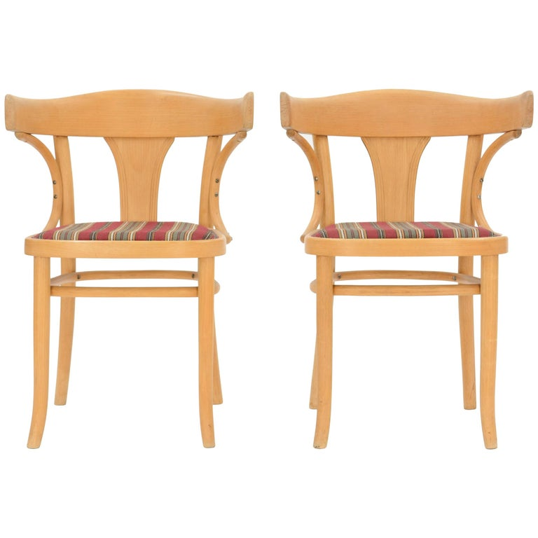 A Pair of Exquisite Austrian Bentwood Chairs by J & J Kohn