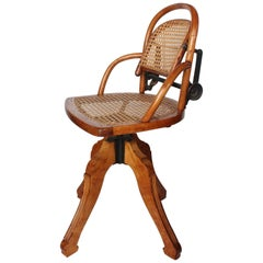 Rare Antique Swivel Desk Chair