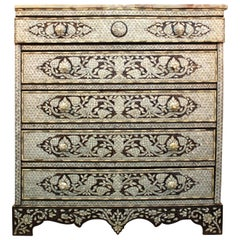 Antique Syrian Commode with Mother of Pearl Inlay