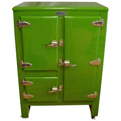 Green Ice Box Refrigerator Bar by Windsor, circa 1920s
