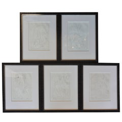 Set of Five Pablo Picasso Etchings