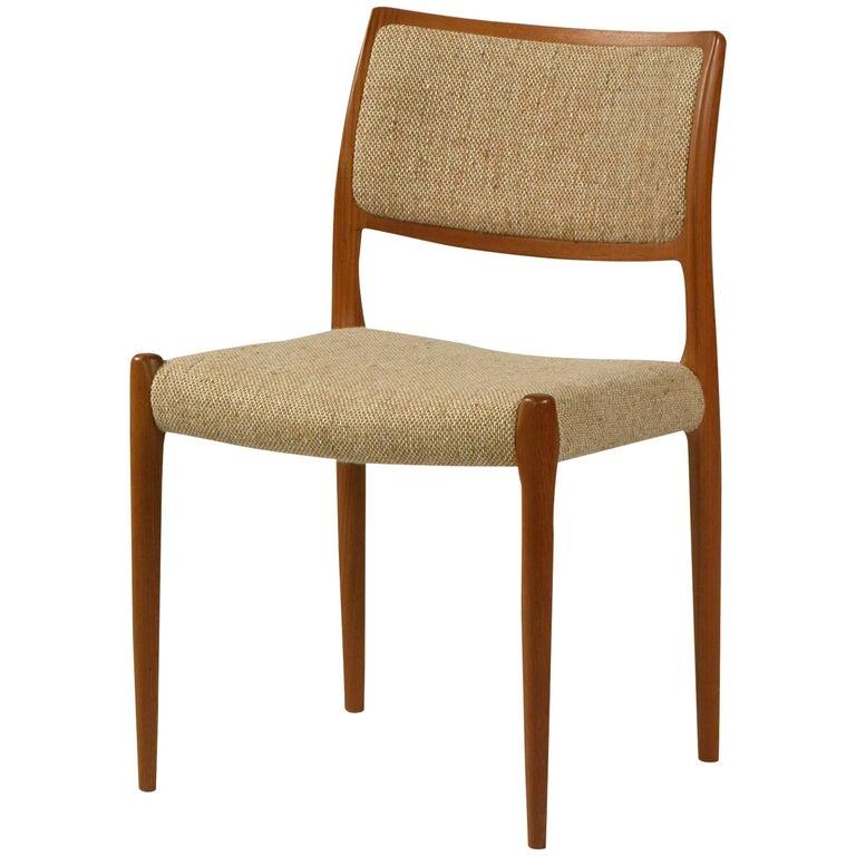 1960s Model 80 Teak Dining Chair by Niels Otto Møller