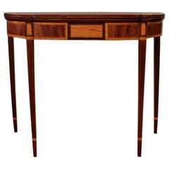 Antique English Federal Drop-Leaf Game Table