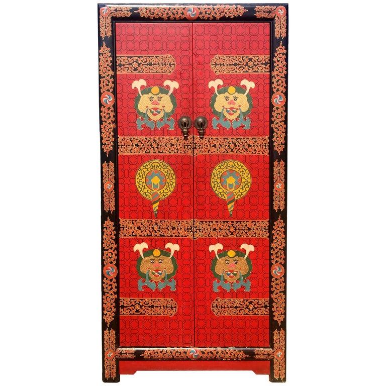 Hand-Painted Tibetan Chest