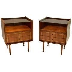 Pair of Night Stands, Made in Italy, 1950s