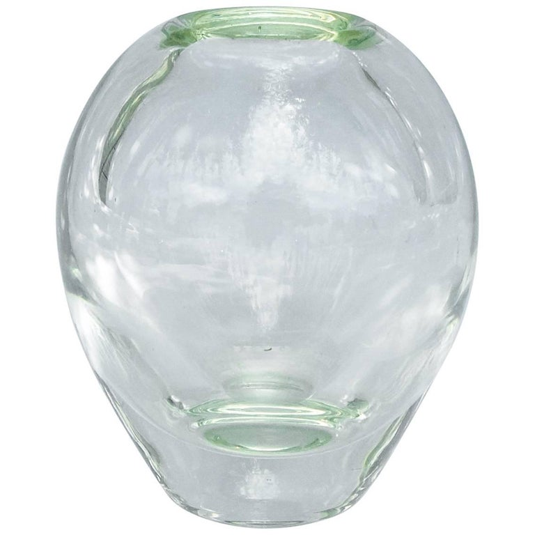 Clear Leaded Glass Vase For Sale At 1stdibs