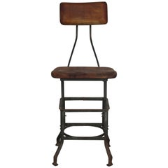 Antique Industrial Task Chair Stool Toledo
