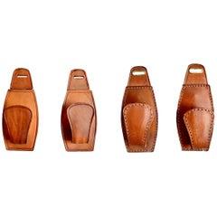 Adnet Style Saddle Leather Hooks