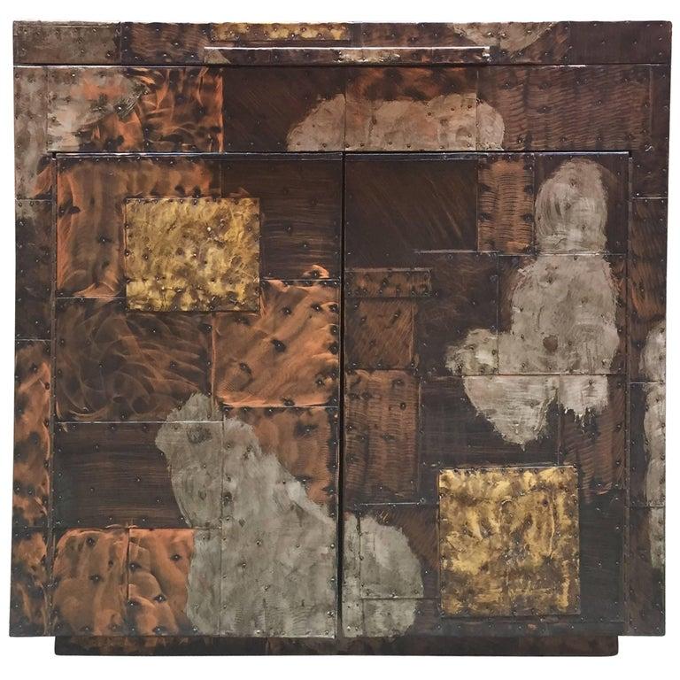 Paul Evans for Directional, 1971 Patchwork Bar Cabinet