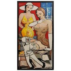 Original L.A. Willette Oil Painting  Pop Culture Artist