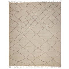 Contemporary Moroccan Style Rug with Organic Modern Style with a Pop of Color
